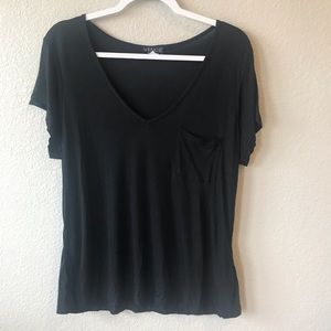 Venus Relaxed Black Tee
